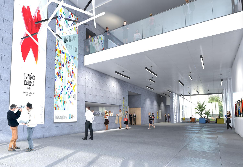 Centre culturel polyvalent architecture design environment ade